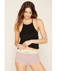 Forever 21 | Black Crocheted Polka Dot Pj Set | Lyst