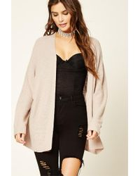 Forever 21 | Natural Waffle Knit Cardigan | Lyst