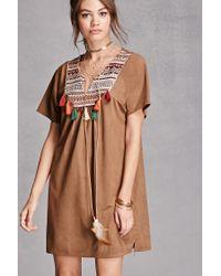 Forever 21 | Brown Cherry Paris Faux Suede Dress | Lyst