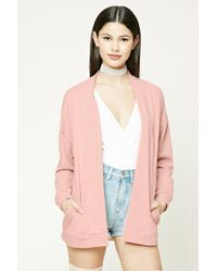 Forever 21 | Pink French Terry Cardigan | Lyst