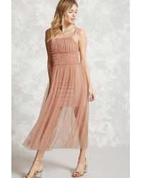 Forever 21 | Purple Contemporary Sheer Mesh Dress | Lyst