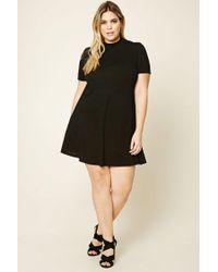 Forever 21 Black Plus Size High-neck Swing Dress