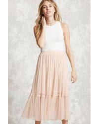 Forever 21 | Pink Contemporary Tulle Skirt | Lyst