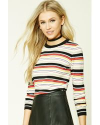Forever 21 | Multicolor Striped Crew Neck Sweater | Lyst