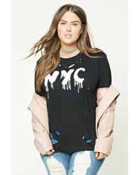 Forever 21 | White Plus Size Nyc Graphic Tee | Lyst