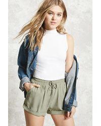 Forever 21 | Green Drawstring Cuffed Shorts | Lyst