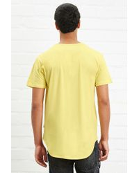 Forever 21 - Yellow Eptm. Draped Hi-low Tee for Men - Lyst