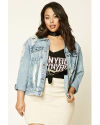 Forever 21 Blue Plus Size Denim Jacket