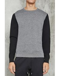 Forever 21   Multicolor Marled Contrast-sleeve Sweater for Men   Lyst