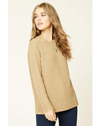 Forever 21 | Natural Loose Knit Raglan Sweater | Lyst