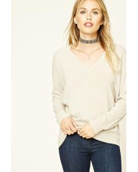 Forever 21 - Natural Contemporary V-neck Sweater - Lyst
