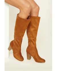 Forever 21   Brown Faux Suede Knee-high Boots   Lyst
