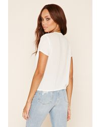 Forever 21 - White Strappy Surplice Top - Lyst