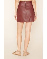 Forever 21 - Multicolor Contemporary Faux Leather Skirt - Lyst