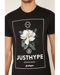Forever 21 - Green Just Hype Floral Graphic Tee for Men - Lyst