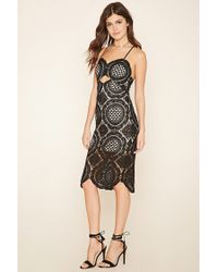 Forever 21 | Natural Ornate Crochet Dress | Lyst