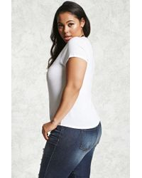 Forever 21 | White Plus Size The End Tee | Lyst