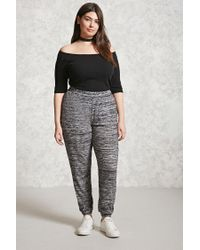 Forever 21 | Gray Plus Size Marled Sweatpants | Lyst