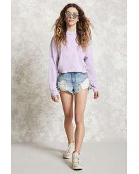 Forever 21 - Purple Loop Knit Hoodie - Lyst