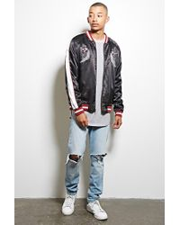 Forever 21 | Multicolor Standard Issue Satin Jacket for Men | Lyst