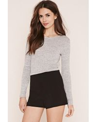 Forever 21 | Gray Contemporary Marled Knit Top | Lyst
