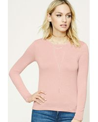 Forever 21 | Pink Contemporary Marled Knit Top | Lyst