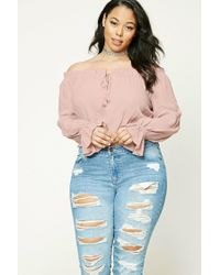 Forever 21 | Pink Plus Size Self-tie Top | Lyst