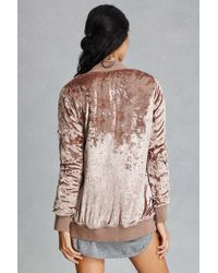 Forever 21 Multicolor Twelve Crushed Velvet Bomber