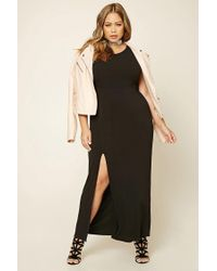 Forever 21 | Black Plus Size Slit Maxi Dress | Lyst