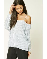Forever 21 | White Contemporary Striped Shirt | Lyst
