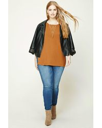Forever 21 - Brown Plus Size Open-shoulder Top - Lyst