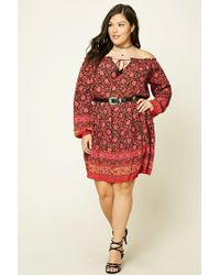 Forever 21 | Red Plus Size Floral Print Dress | Lyst