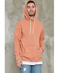 Forever 21 | Multicolor Reverse French Terry Hoodie for Men | Lyst