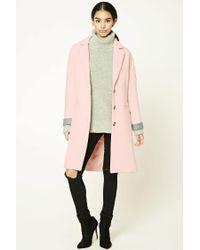 Forever 21 - Pink Au Revoir Longline Coat - Lyst