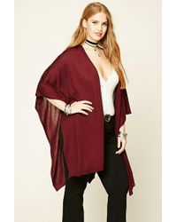 Forever 21 | Red Plus Size Open-front Poncho | Lyst