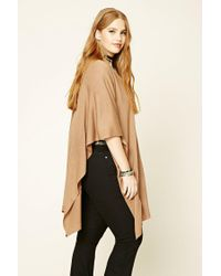 Forever 21 Natural Plus Size Open-front Poncho