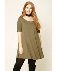Forever 21 | Green Plus Size T-shirt Dress | Lyst