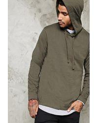 Forever 21 | Green Cotton-blend Hooded Tee for Men | Lyst
