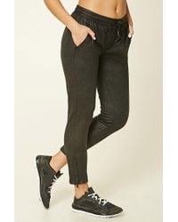 Forever 21 | Black Active Faux Leather Joggers | Lyst