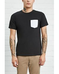 Forever 21 | Black Abstract Geo Pocket Tee for Men | Lyst
