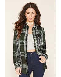 Forever 21 | Black Check Button-front Shirt | Lyst