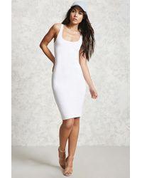Forever 21 | White Bodycon Midi Dress | Lyst