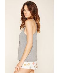 Forever 21 - Gray Donut Make Me Angry Pj Set - Lyst