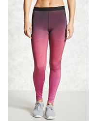 Forever 21 | Multicolor Active Ombre Leggings | Lyst