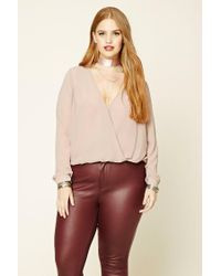 Forever 21 | Purple Plus Size Surplice Top | Lyst