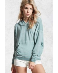 Forever 21 | Blue Faded Wash Hoodie | Lyst