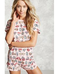 Forever 21 | Pink Pizza Graphic Pj Set | Lyst