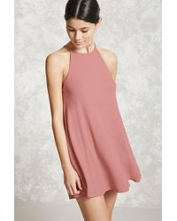 Forever 21 | Pink Ribbed Knit Cami Dress | Lyst