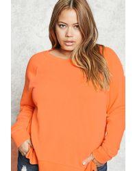 Forever 21 | Orange Plus Size Side Slit Sweatshirt | Lyst