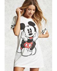 Forever 21 - Black Mickey Mouse Varsity Nightdress - Lyst